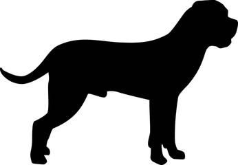 Cane Corso silhouette black