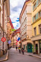 Fototapete - Cityscape of Lucerne, Switzerland