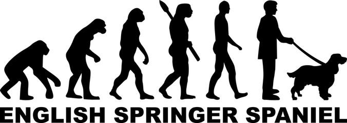 English Springer Spaniel evolution word