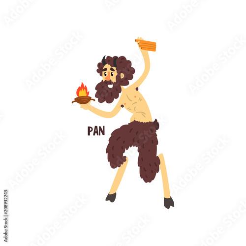 Pan Olympian Greek God, ancient Greece mythology character