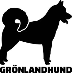 Greenland Dog silhouette real word german