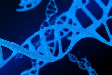 3d modeling, blue DNA modeling