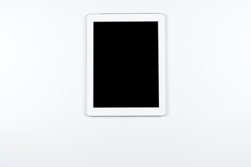 Tablet on white background.