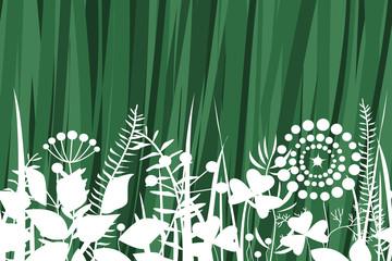 Wall Mural - Vector grass seamless pattern.