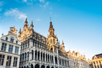 Foto auf AluDibond Brussel BRUSSELS, BELGIUM - August 27, 2017: Grand Place in Belgium.