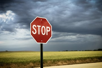 Stop Sign clouds