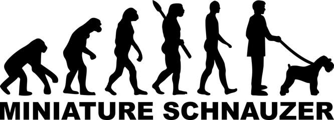 Miniature Schnauzer evolution word