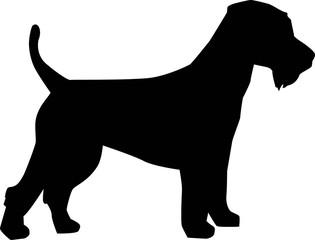 Welsh Terrier silhouette black