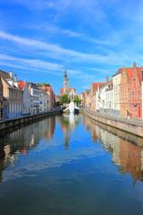 Spiegelrei and the Spinolarei in Bruges. Belgium , Europe.