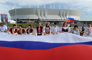People celebrate the Day of Russia in Rostov-on-Don