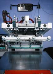 Old silk screening machine in the print shop