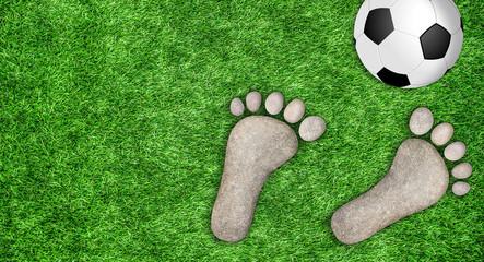 Fußball, Hintergrund mit Textfreiraum