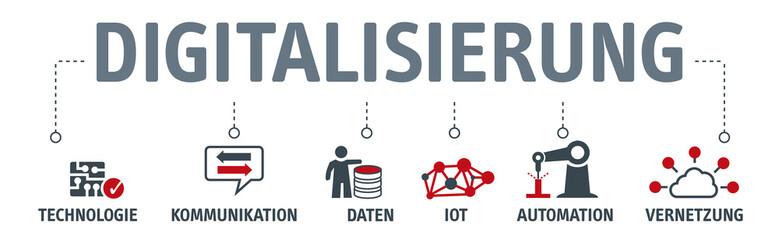 Banner Digitalisierung Vektor Illlustration