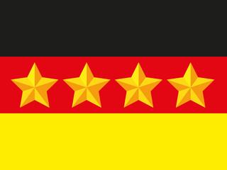 Deutsche Fahne mit 5 Sternen