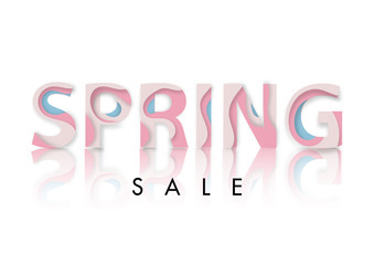 Spring sale abstract text paper art style vector