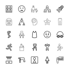 Collection of 25 man outline icons