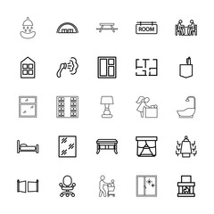 Collection of 25 room outline icons