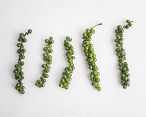 fresh green pepper on white background