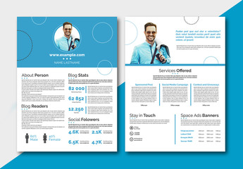 Personal Branding Media Kit Layout
