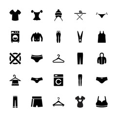 Collection of 25 clothes filled icons