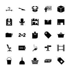 Collection of 25 empty filled icons