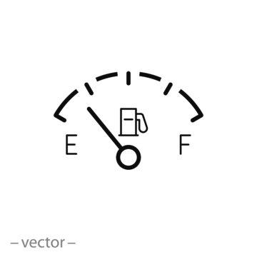 Gas gage icon vector