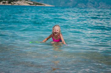 swimming in the Croatian sea