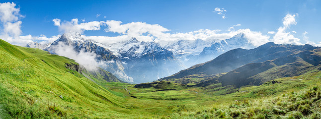 Wall Mural - Schweizer Alpen Panorama bei Grindelwald im Berner Oberland