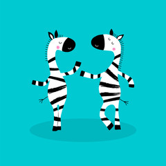 Cartoon zebras character.