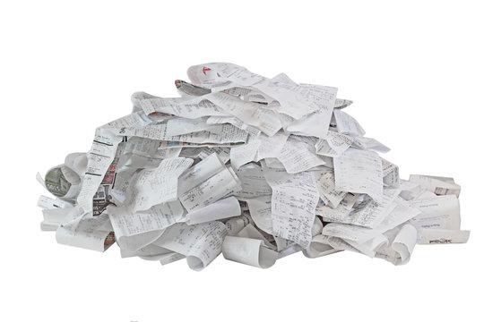 Paper Receipt Pile