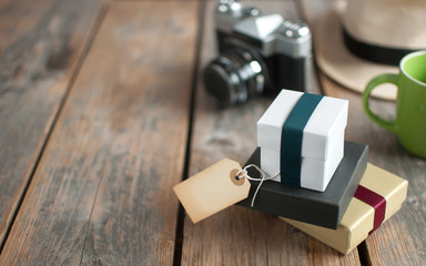 Fototapete - Gifts with label