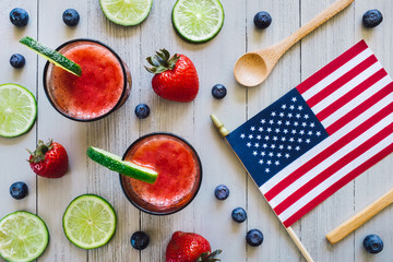 Summer Holiday Fruits and Beverages