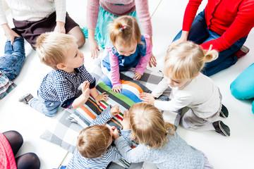 First day of children in the kindergarten