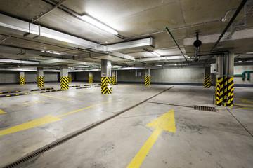 Underground car parking at modern house