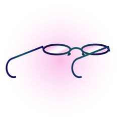 Simple glasses vector illustration