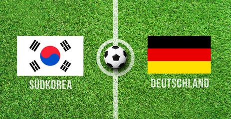 Fußball - Südkorea gegen Deutschland
