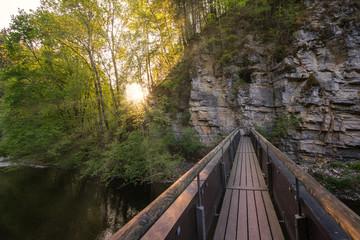 Brücke im Sonnenschein