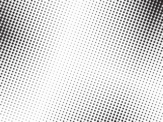 Abstract halftone dots texture background. Grunge black and white  backdrop.