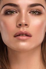 Close up of beautiful woman