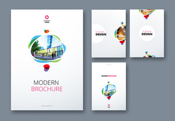 Geometric Accent Business Report Cover Layouts