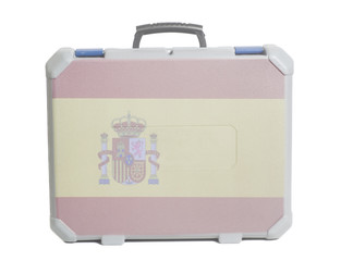 Business travel suitcase with Spain Flag