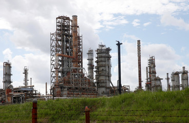 The Phillips 66 Lake Charles Refinery is pictured in West Lake