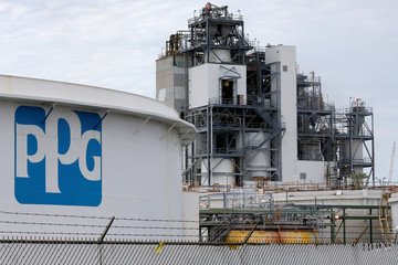 A PPG Industries plant is pictured in West Lake