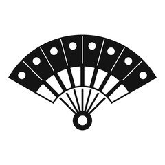 Hand fan icon. Simple illustration of hand fan vector icon for web design isolated on white background