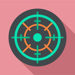 Gun target icon. Flat illustration of gun target vector icon for web design