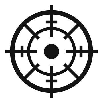 Maritime radar aim icon. Simple illustration of maritime radar aim vector icon for web design isolated on white background