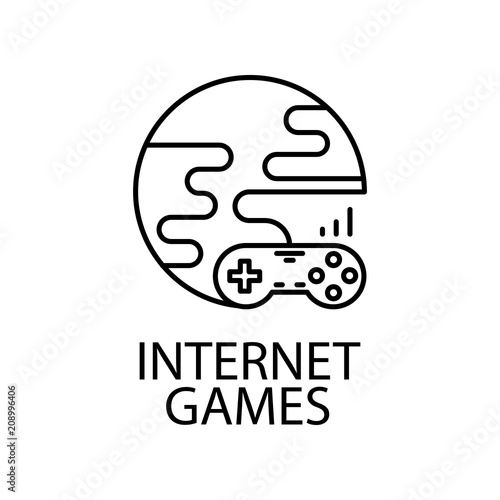 Internet Games Outline Icon Element Of Gaming Outline Icon For