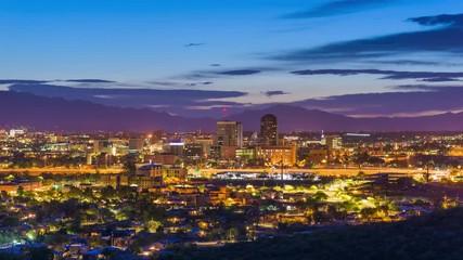 Fototapete - Tucson, Arizona, USA downtown skyline