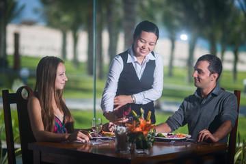 Romantic date at the restaurant