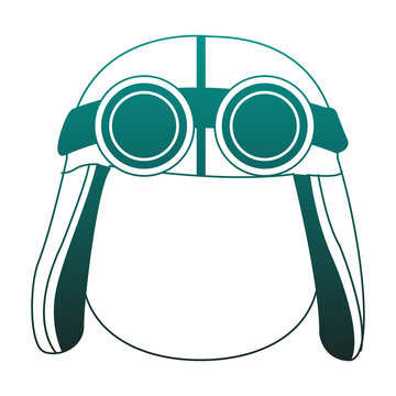 Cute boy with aviator hat and glasses vector illustration graphic design